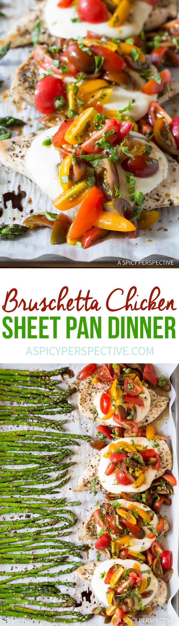 Cheesy Bruschetta Chicken Sheet Pan Dinner Recipe