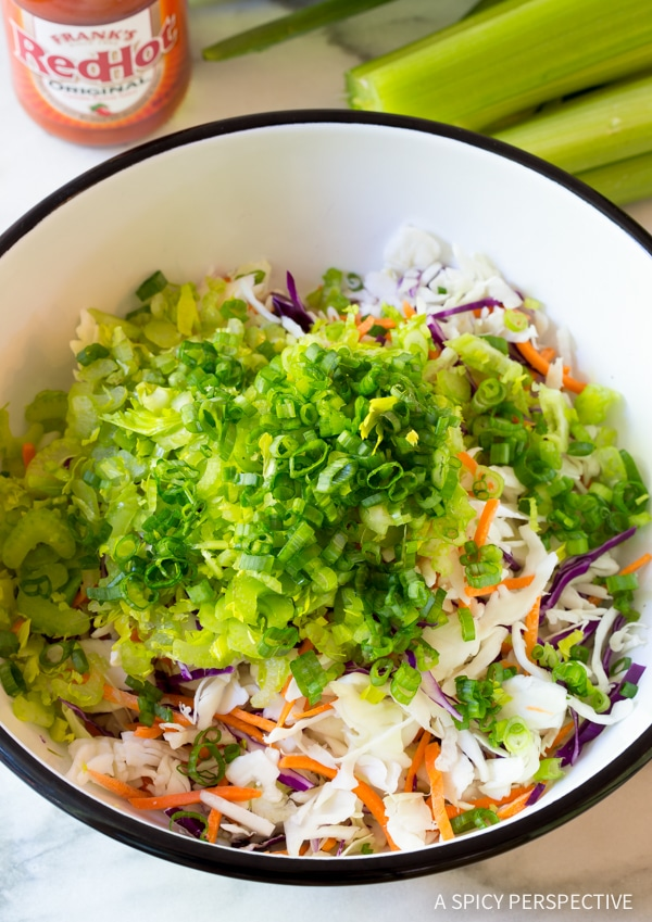 How To: Buffalo Blue Cheese Coleslaw Recipe (Cole Slaw)