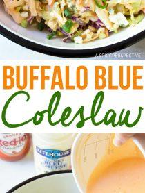 Zesty Buffalo Blue Cheese Coleslaw Recipe (Cole Slaw)