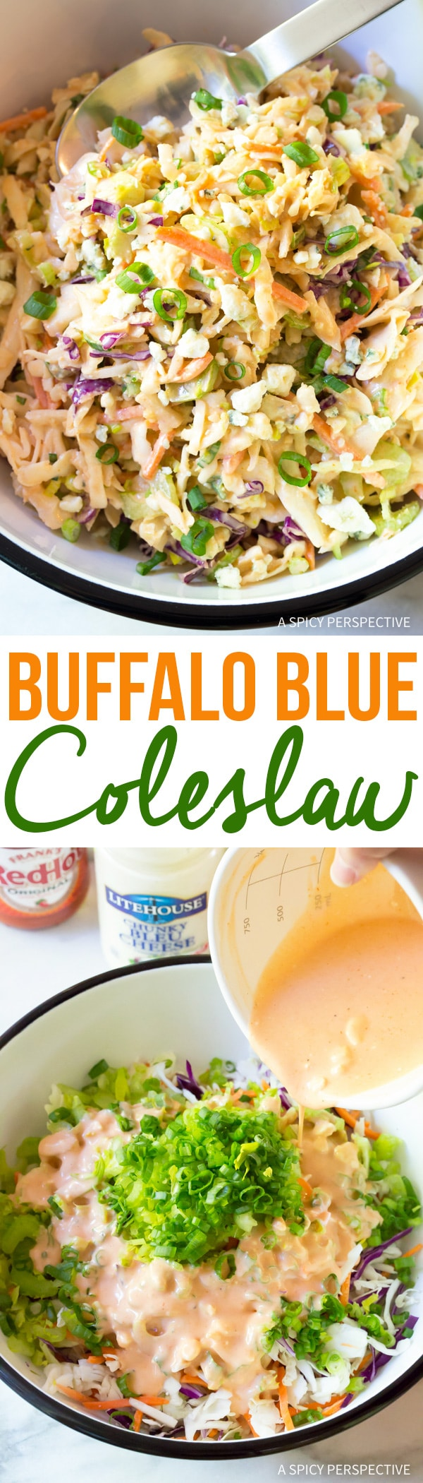 Zesty Buffalo Blue Cheese Coleslaw Recipe (Cole Slaw)