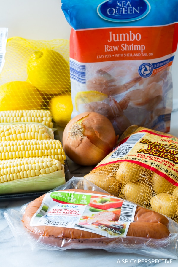 Making Sheet Pan Low Country Boil (Broil) Recipe