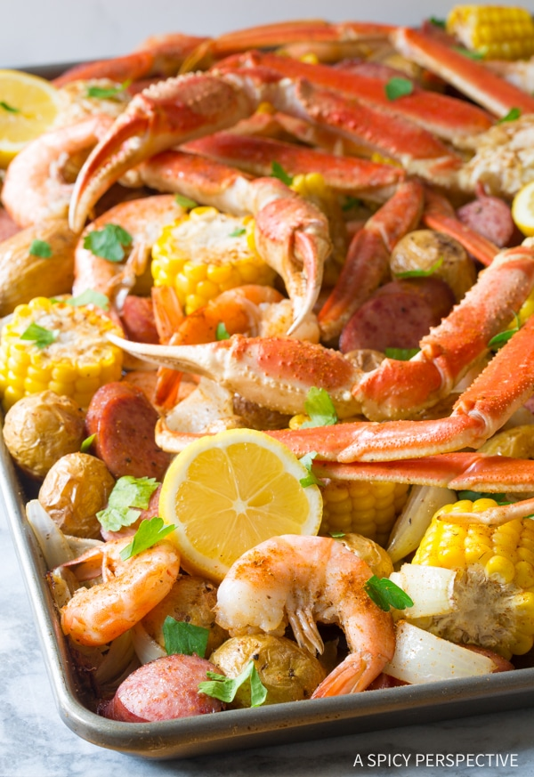 Zesty Sheet Pan Low Country Boil (Broil) Recipe