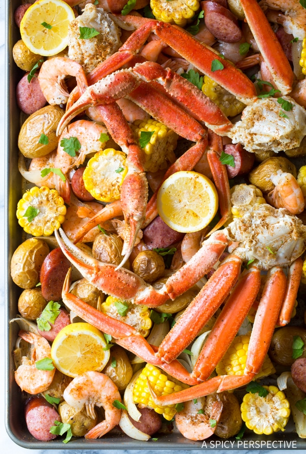Sheet Pan Low Country Boil Broil A Spicy Perspective