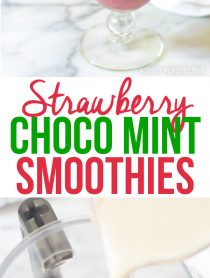 5-Ingredient Strawberry Chocolate Mint Smoothies Recipe