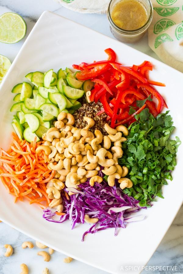 Crunchy Healthy Thai Quinoa Salad Recipe