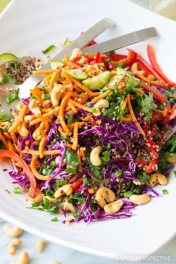 Fresh Thai Quinoa Salad Recipe
