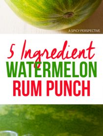 Fabulous 5-Ingredient Watermelon Rum Punch Recipe