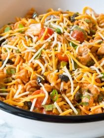 Cool Chicken Taco Pasta Salad Recipe #best #mexican #summer