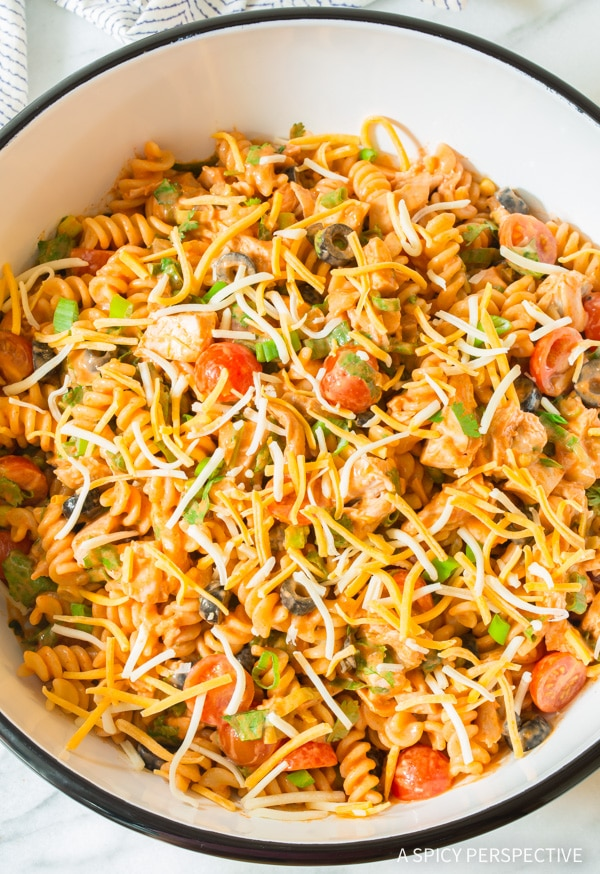 Easy Cool Chicken Taco Pasta Salad Recipe #best #mexican #summer