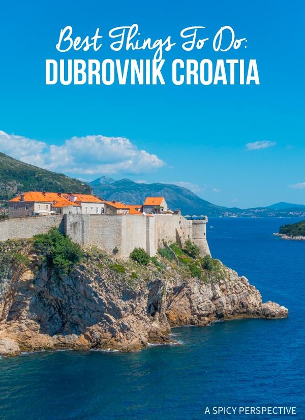 The Absolute Best Things To Do In Dubrovnik, Croatia #travel #bucketlist