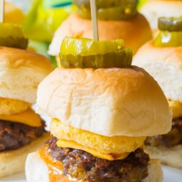 Cheesy Funyuns Sliders Recipe