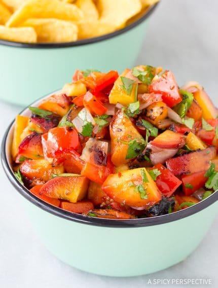 Grilled Chipotle Peach Salsa