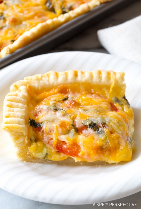 Hot Cheesy Southern Tomato Slab Pie Recipe