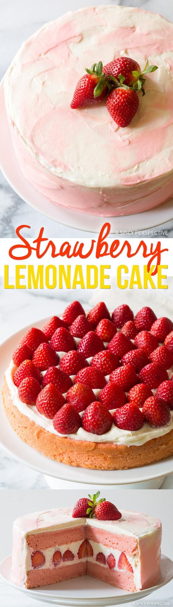 Perfect Fresh Strawberry Lemonade Cake Recipe