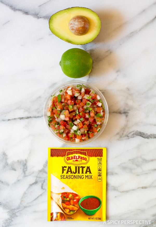 Making Magic 4-Ingredient Fajita Guacamole Recipe #healthy