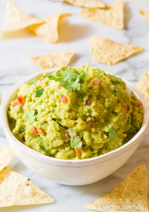 The Best Magic 4-Ingredient Fajita Guacamole Recipe #healthy