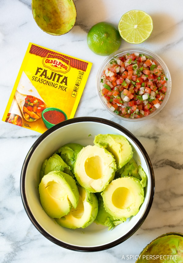 How To: Magic 4-Ingredient Fajita Guacamole Recipe #healthy