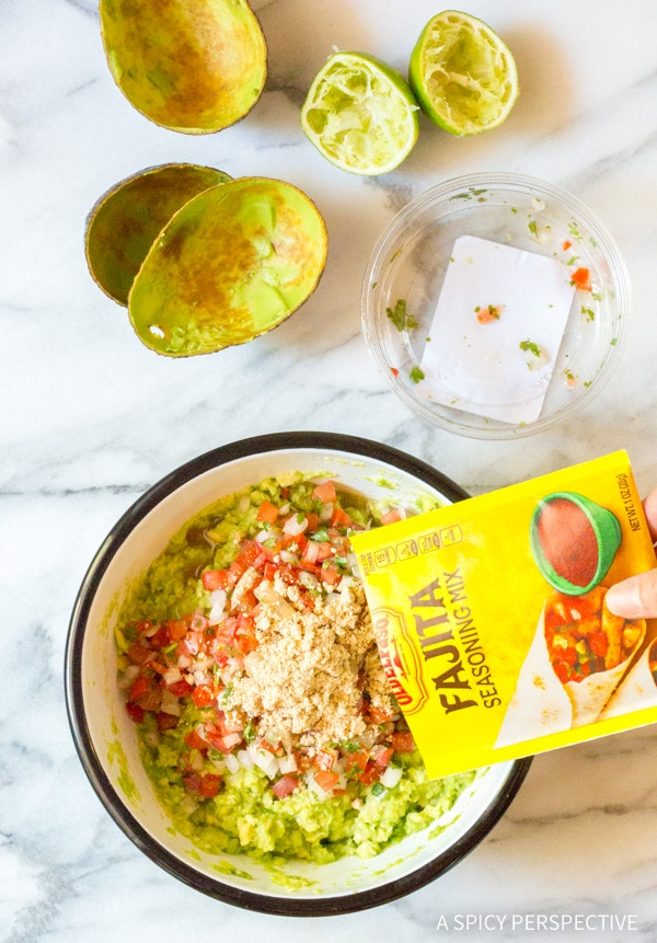 How to Make: Magic 4-Ingredient Fajita Guacamole Recipe #healthy