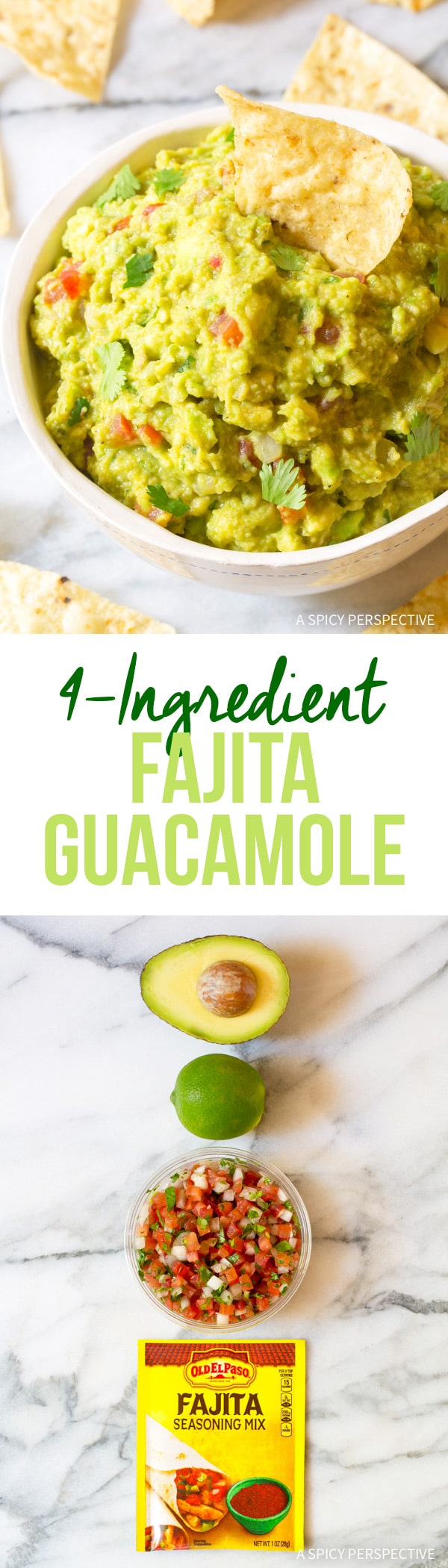 Magic 4-Ingredient Fajita Guacamole Recipe #healthy