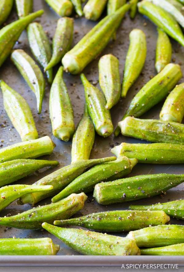 Easy Zesty Roasted Okra Recipe #healthy #vegan #ketogenic