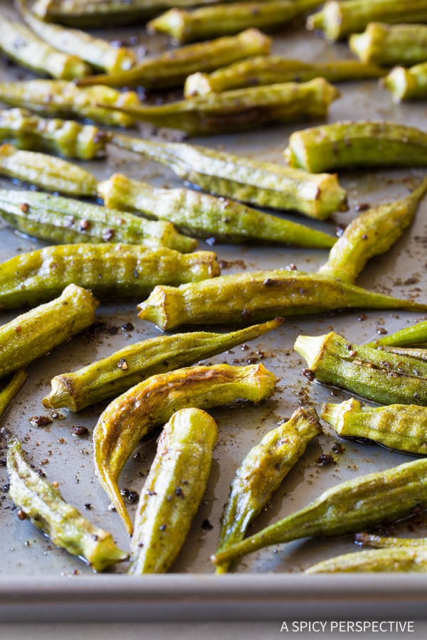 Perfect Zesty Roasted Okra Recipe #healthy #vegan #ketogenic