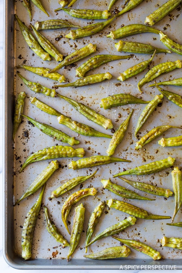 Best Zesty Roasted Okra Recipe #healthy #vegan #ketogenic