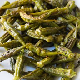 Zesty Roasted Okra Recipe #healthy #vegan #ketogenic