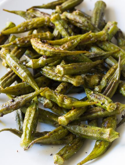 Zesty Roasted Okra Recipe #healthy #vegan #ketogenic