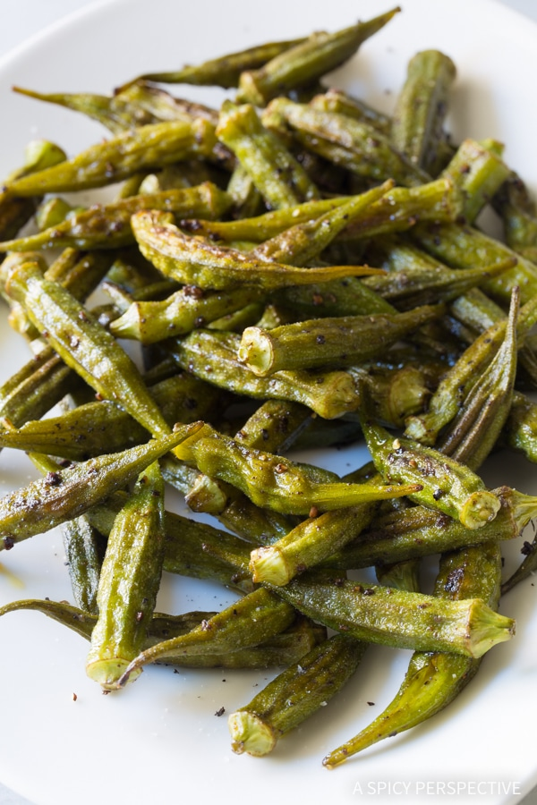 Zesty Roasted Okra {A Spicy Perspective}