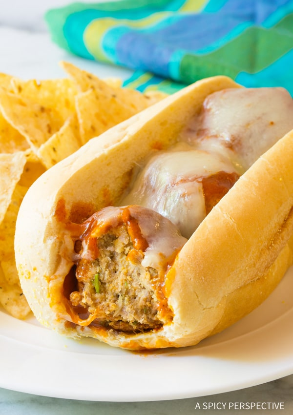 Perfect Cheesy Enchilada Meatball Sub Recipe #sandwich #mexican