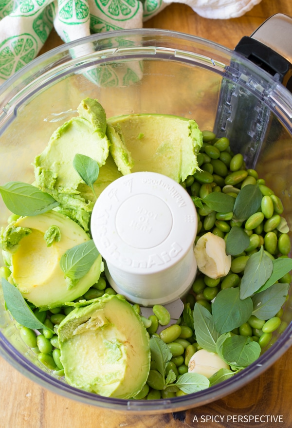 Easy Creamy Avocado Edamame Hummus Recipe - Low Carb, Gluten Free, Vegan, Protein-Packed and Delicious!