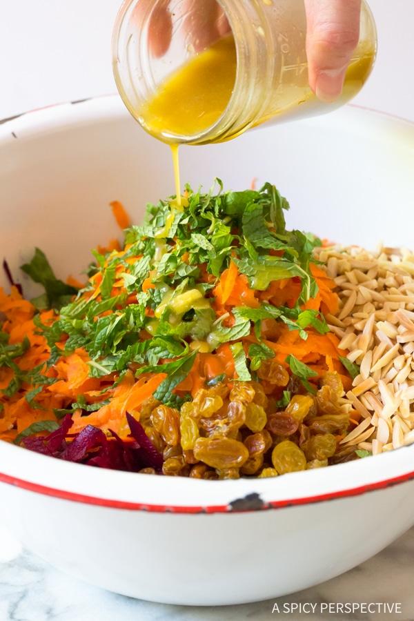 Vibrant Crunchy Beet Carrot Slaw (Healthy, Gluten Free & Vegetarian)