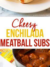 Awesome Cheesy Enchilada Meatball Sub Recipe #sandwich #mexican