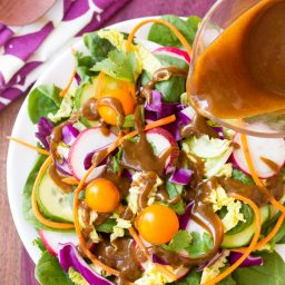 3-Ingredient Almond Butter Balsamic Vinaigrette Recipe