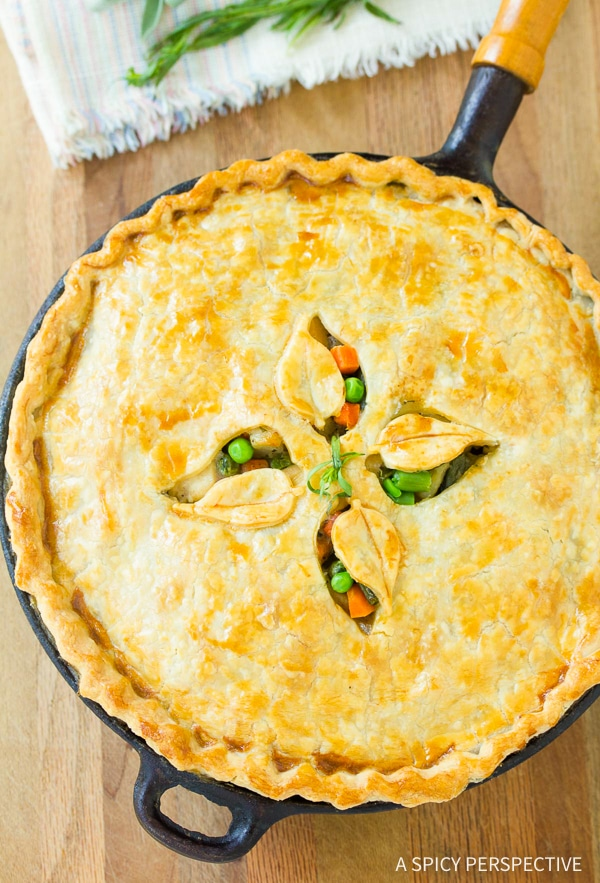 Best Skillet Turkey Pot Pie Recipe - Use up your holiday leftovers!