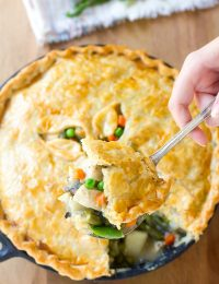 Perfect Skillet Turkey Pot Pie Recipe - Use up your holiday leftovers!