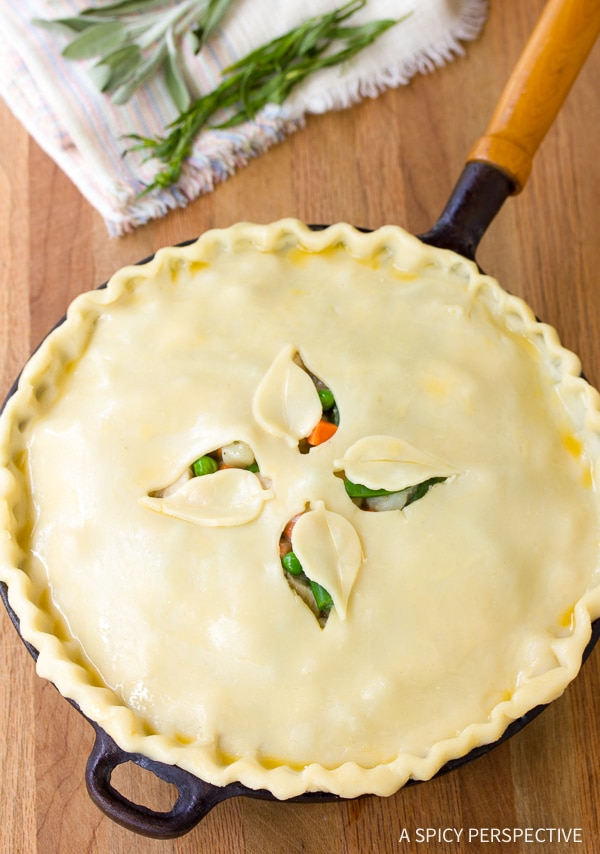 Hearty Skillet Turkey Pot Pie Recipe - Use up your holiday leftovers!