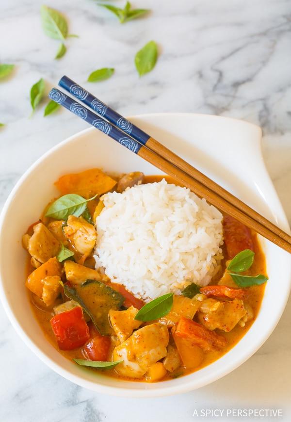 The Best Thai Red Chicken Curry Recipe