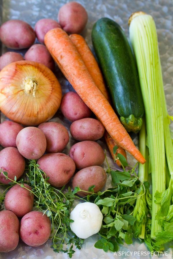 Making Healthy Tomato Potato White Bean Soup Recipe
