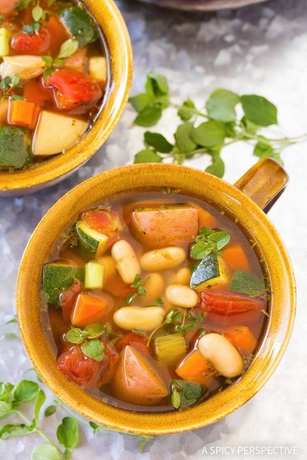 Easy and Healthy Tomato Potato White Bean Soup Recipe
