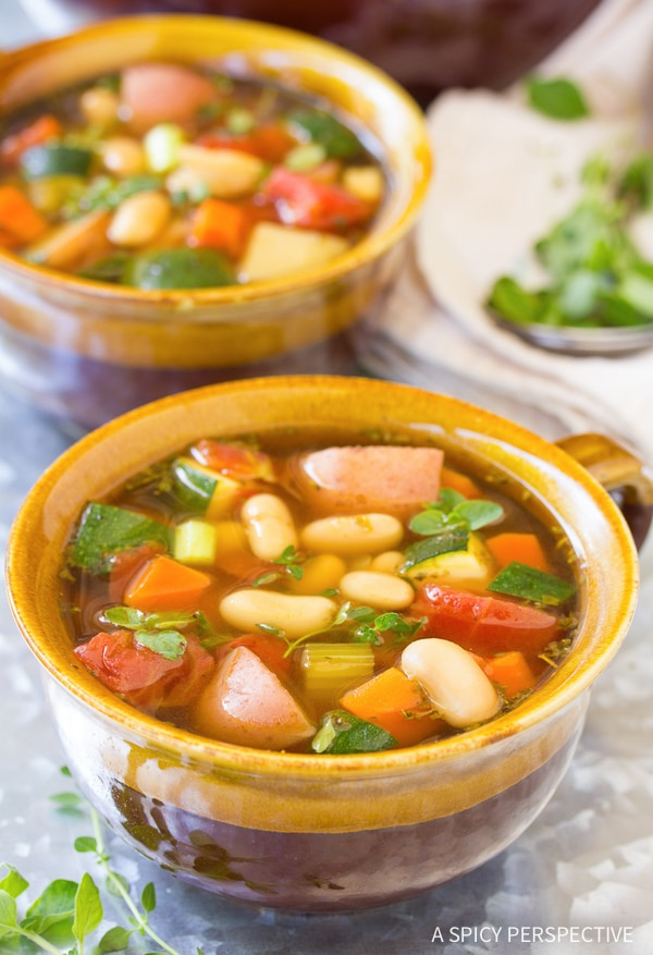 Light and Healthy Tomato Potato White Bean Soup Recipe