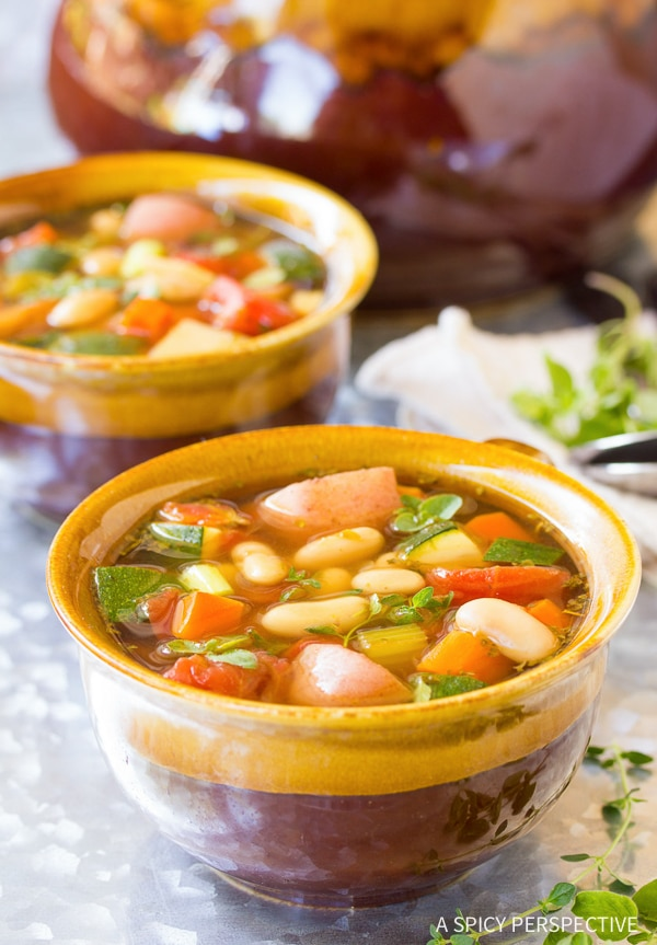 Simple Healthy Tomato Potato White Bean Soup Recipe