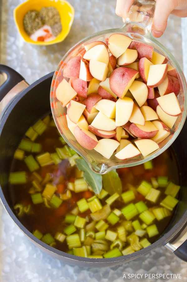 How to Make Light and Healthy Tomato Potato White Bean Soup Recipe