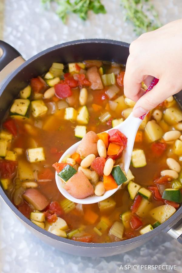 How to Make Healthy Tomato Potato White Bean Soup Recipe