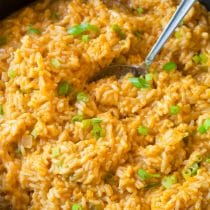 Spicy Cheesy Enchilada Rice Recipe
