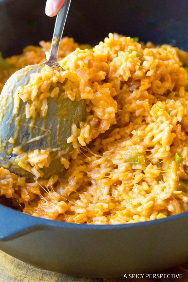 Heavenly Cheesy Enchilada Rice Recipe