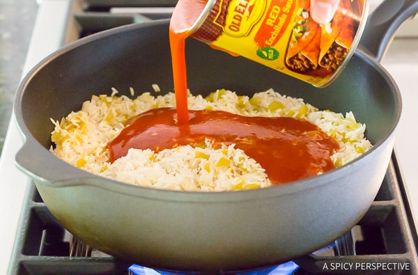 How to Make Cheesy Enchilada Rice