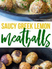 Saucy Greek Lemon Meatballs (Keftedes) Recipe