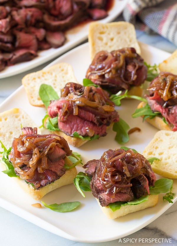 Hot French Onion Steak Sliders Recipe
