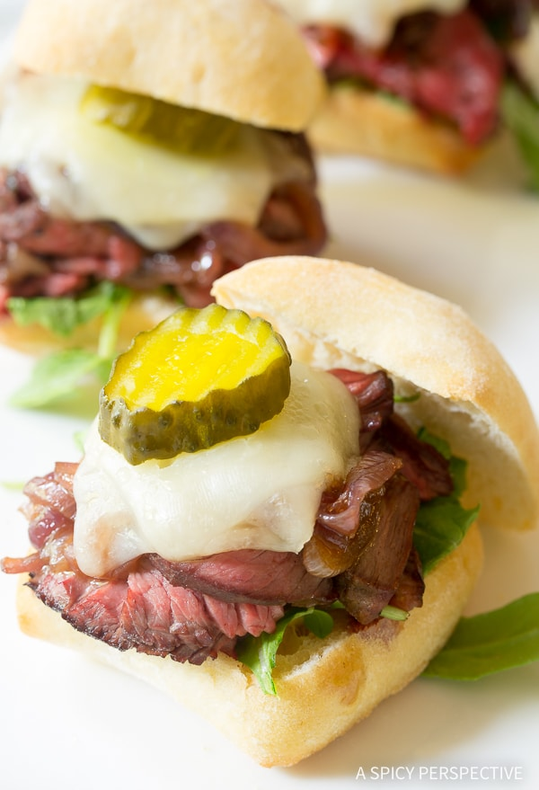 The Best Grilled French Onion Steak Sliders Recipe